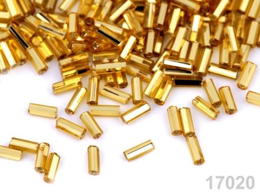 Rokajl Preciosa hladké tyčky 4,5 mm zlatá svetlá 20g