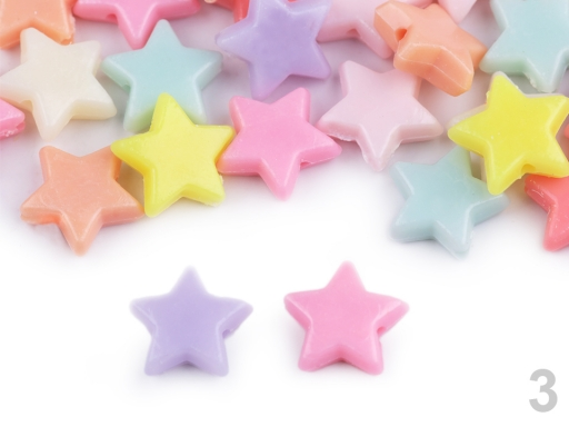 Plastové koráliky hviezda, srdce, kvet 20 g