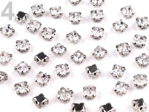 Našívacie šatony / štras v puzdre Ø4,5 mm crystal 1440ks