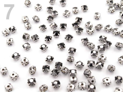 Našívacie šatony / štras v puzdre Ø4,5 mm crystal AB 200ks