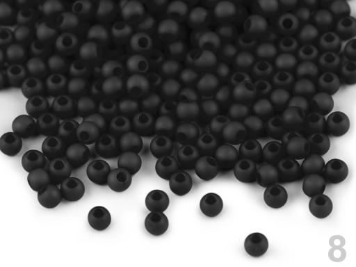 Plastové koráliky Ø4 mm malinová 10g