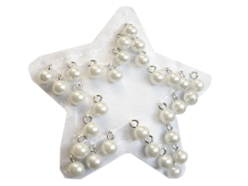 Plastové koráliky / perly s očkom 10 mm mliečna 10ks
