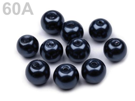Voskované perly Ø8 mm fialová purpura 50g