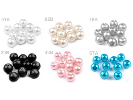 Voskované perly Ø8 mm červená 50g