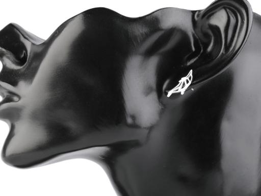 Náušnice z nerezovej ocele motýle, delfíni platina 12pár