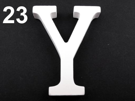 3D dekorácie PÍSMENA abecedy výška 8cm biela 5ks