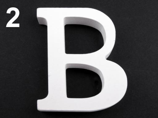 Drevená dekorácia písmená abecedy biela 1ks