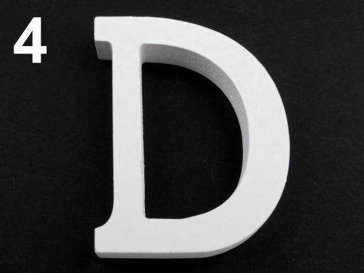 3D dekorácie PÍSMENA abecedy výška 8cm biela 1ks