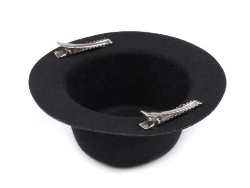 Klobúčik polotovar na fascinátor Ø13,5 cm červená 3ks