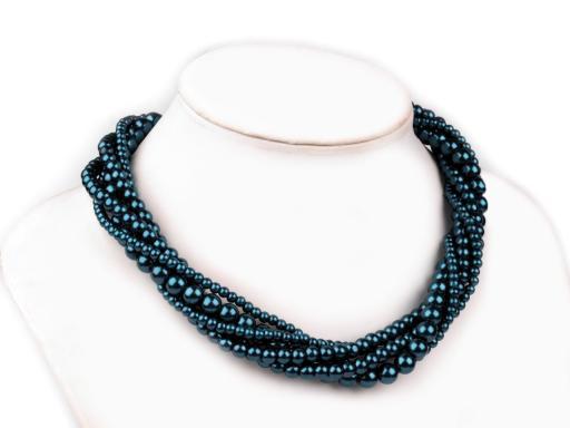 Perlový náhrdelník, náramok a náušnice, sada hnedá sv. 1sada