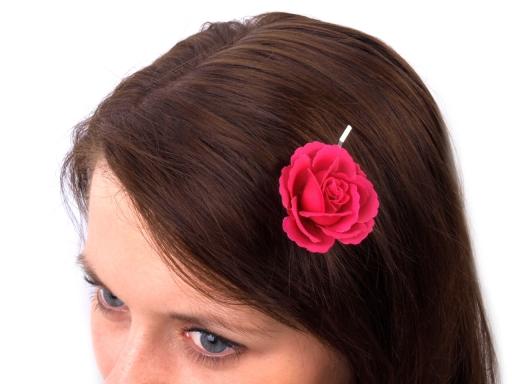 Sponky do vlasov Ø4,5 cm červená 12ks