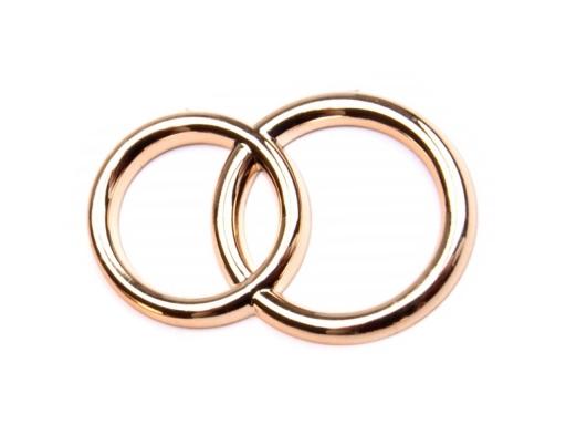 Dekoračné prstene zlatá svetlá 10ks