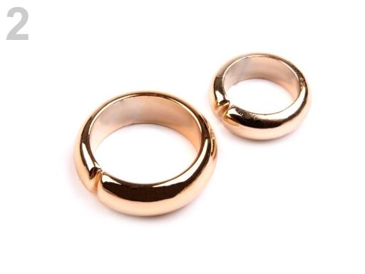 Dekorácia prstene zlatá svetlá 50pár