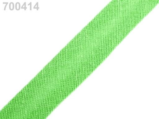 Šikmý prúžok bavlnený šírka 14mm zažehlený Gossamer Pink 150m