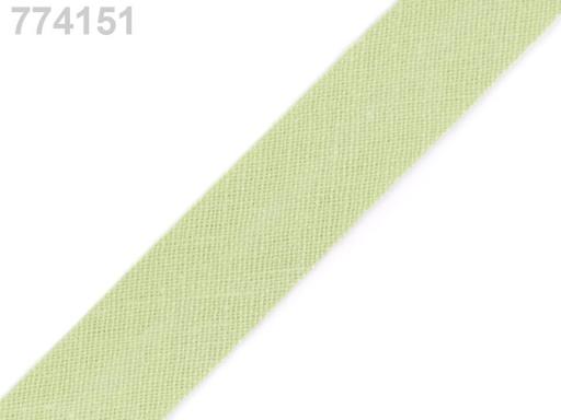 Šikmý prúžok bavlnený šírka 14mm zažehlený Bluesteel 150m