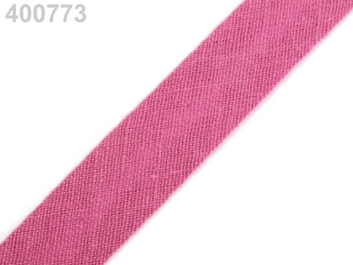 Šikmý prúžok bavlnený šírka 14mm zažehlený Daffodil 150m