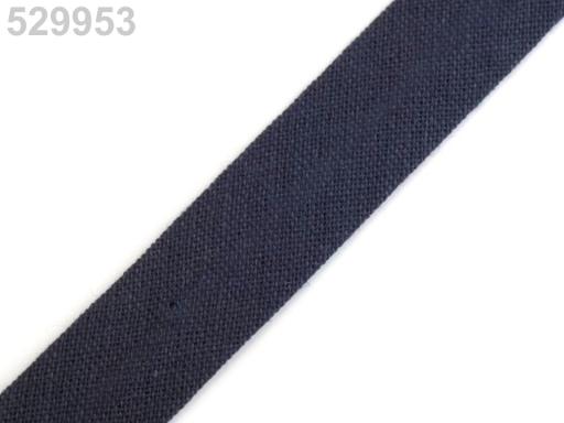 Šikmý prúžok bavlnený šírka 14mm zažehlený Fiery Red 150m