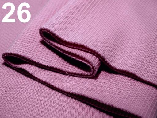 Úplety elastické rebrované - 16x80 cm jonquil AB 1ks