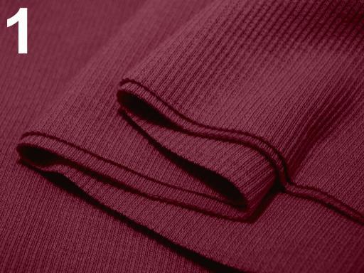 Úplety elastické rebrované - 16x80 cm Beaujolais 1ks