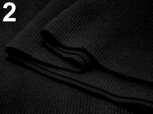 Úplety elastické rebrované - 16x80 cm Black 1ks