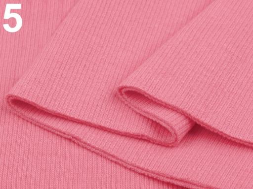 Úplety elastické rebrované - 16x80 cm Sachet Pink 1ks