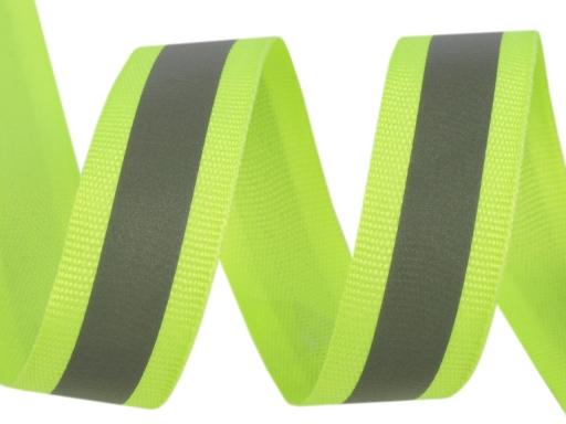 Reflexná páska šírka 20 mm na tkanině žltozelená ref. 10m
