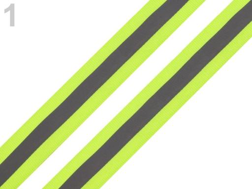 Reflexná páska šírka 25 mm na tkanine žltozelená ref. 5m
