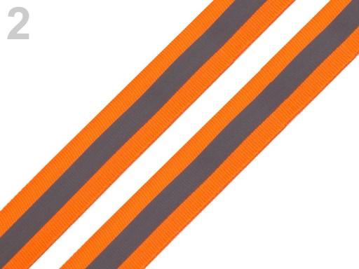 Reflexná páska šírka 25 mm na tkanine oranžová 5m