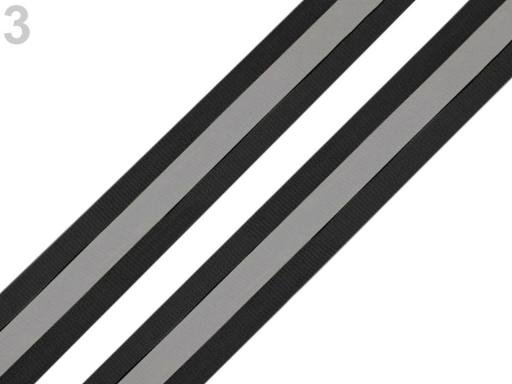 Reflexná páska šírka 25 mm na tkanine čierna 5m