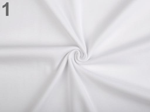 Úplet bavlnený elastický hladký / úplet biela 1m
