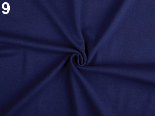 Úplet bavlnený elastický hladký / úplet čierna 1m
