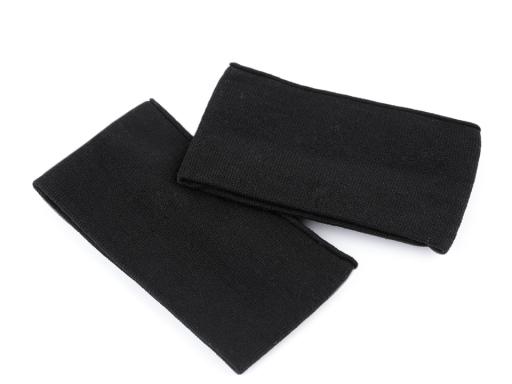 Elastické bezošvé úplety na rukávy detské čierna 1pár