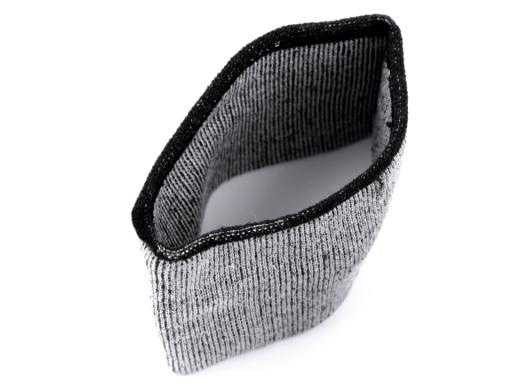 Elastické bezšvíkové bavlnené úplety na rukávy 5,5x20 cm šedá sv. 1pár