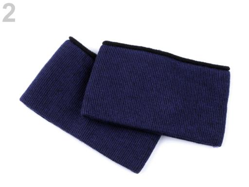 Elastické bezšvíkové bavlnené úplety na rukávy 5,5x20 cm modrá tmavá 1pár