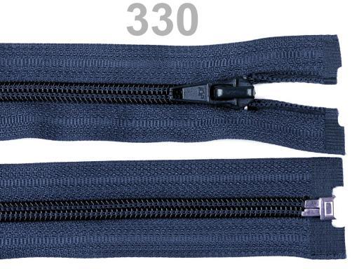 Špirálový zips šírka 5 mm dĺžka 45 cm bundový POL Zinc 1ks
