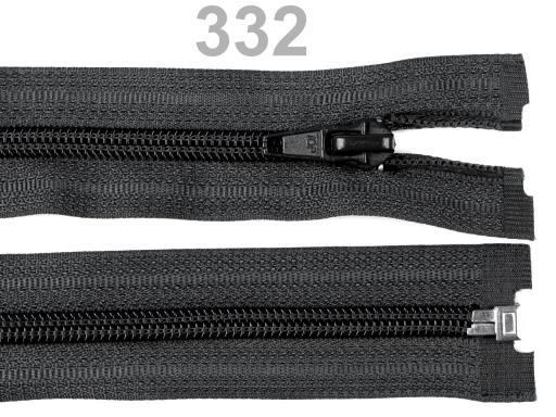 Špirálový zips šírka 5 mm dĺžka 45 cm bundový POL Steel Gray 1ks