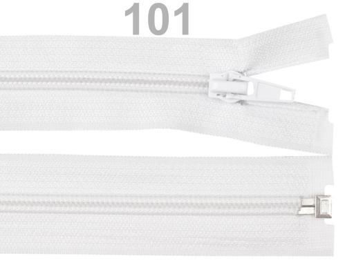 Špirálový zips šírka 5 mm dĺžka 45 cm bundový POL White 1ks