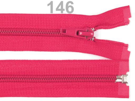 Špirálový zips šírka 5 mm dĺžka 45 cm bundový POL Paradise Pink 1ks