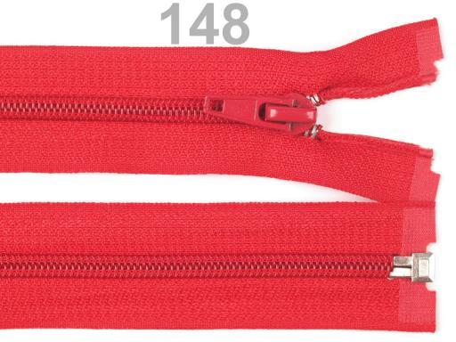 Špirálový zips šírka 5 mm dĺžka 45 cm bundový POL Magenta 1ks