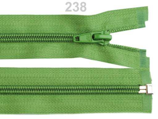 Špirálový zips šírka 5 mm dĺžka 45 cm bundový POL Cyan Blue 1ks