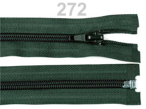 Špirálový zips šírka 5 mm dĺžka 45 cm bundový POL Poison Green 1ks