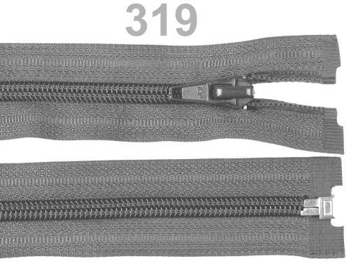 Špirálový zips šírka 5 mm dĺžka 45 cm bundový POL Chocolate Brown 1ks