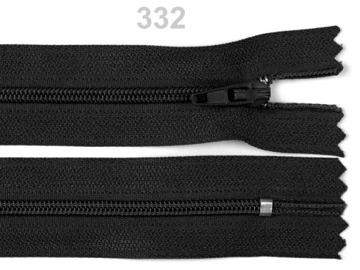 Špirálový zips šírka 3 mm dĺžka 55 cm Black 1ks