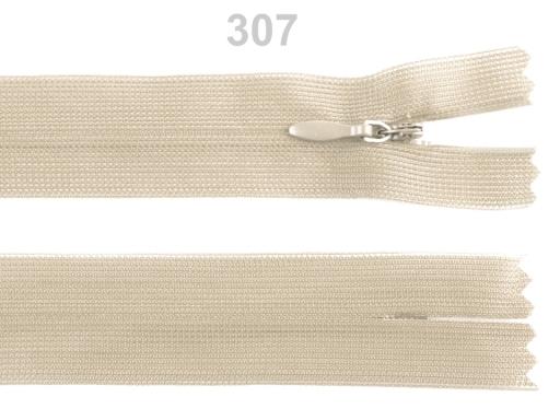 Špirálový zips skrytý šírka 3 mm dĺžka 60 cm Dederon Black 10ks