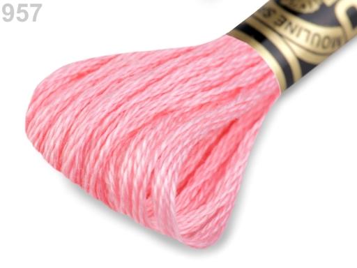 Vyšívacia priadza DMC Mouliné Spécial Cotton ružová svetlá 1ks