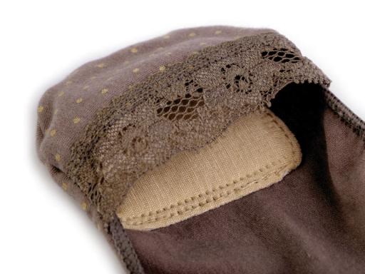 Ponožky do balerín s čipkou, bavlnené telová 1pár