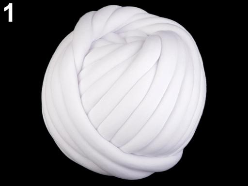 Priadza Marshmallow hrubá 750 g biela 1m