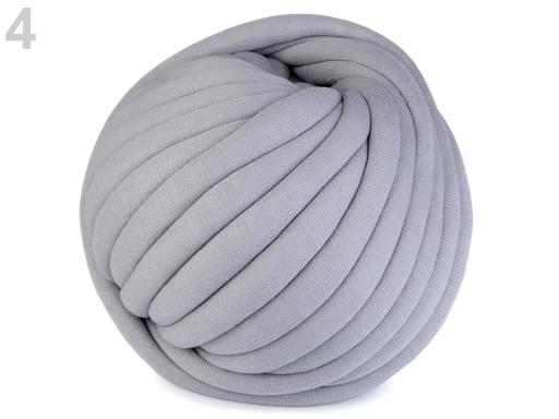 Priadza Marshmallow hrubá 750 g šedá 1m