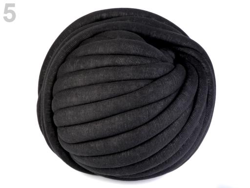 Priadza Marshmallow hrubá 750 g čierna 1m
