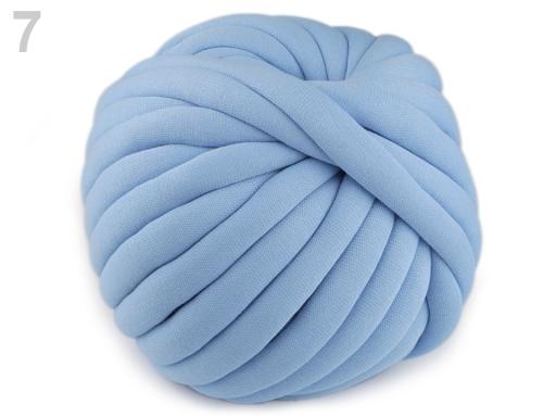 Priadza Marshmallow hrubá 750 g modrá sv. 1m